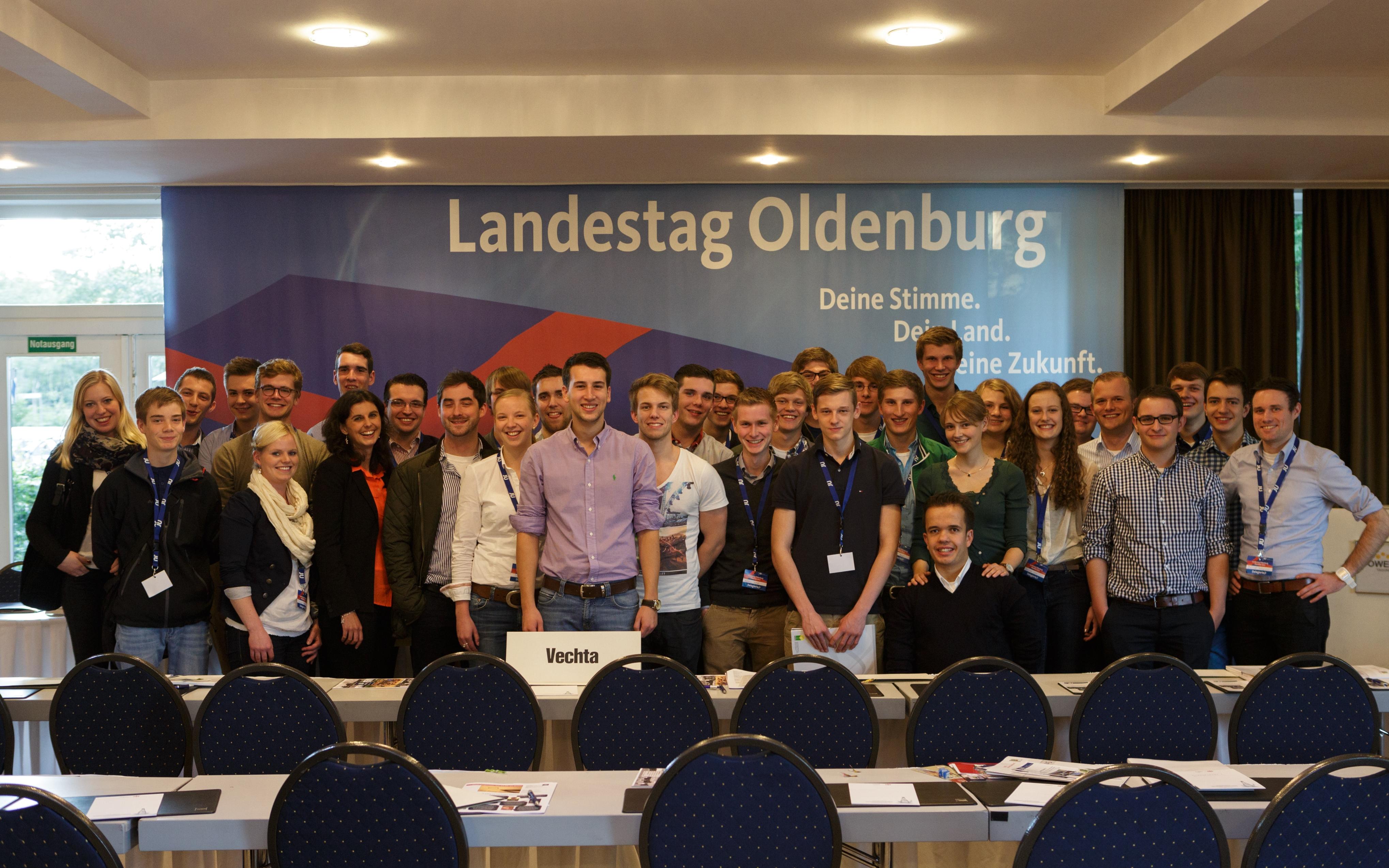 Unsere Vechtaer Delegierte waren auf dem Landestag wie immer stark vertreten! / Bild: Max Arens
