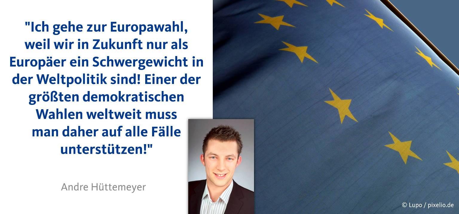 Ich gehe zur Europawahl, weil 60