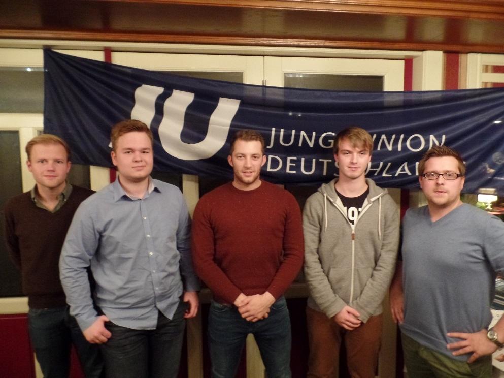 v.l.n.r. Christian Kaiser, Jannis Brinkmann, Andre Hüttemeyer, Christian Eckstein und Jan-Bern Möhlmann