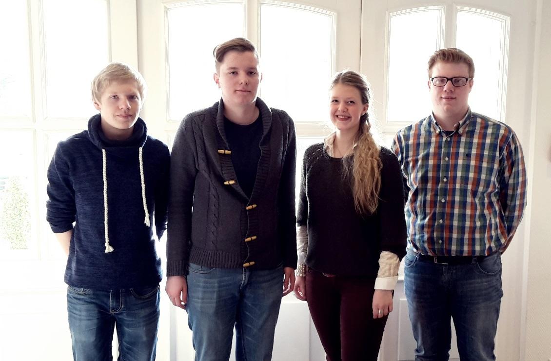 v.l.n.r. Lucas Bockhorst, Tim Dorniak, Rebecca Blömer, Jan Donix