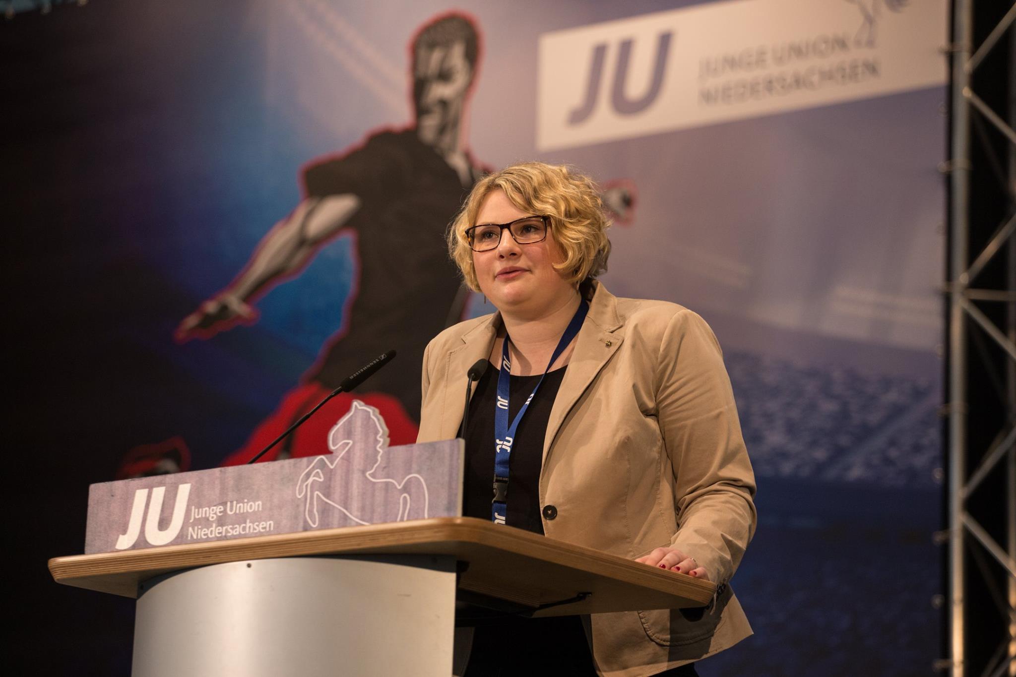 Franziska Lammert bei ihrer Vorstellung auf dem Niedersachsentag