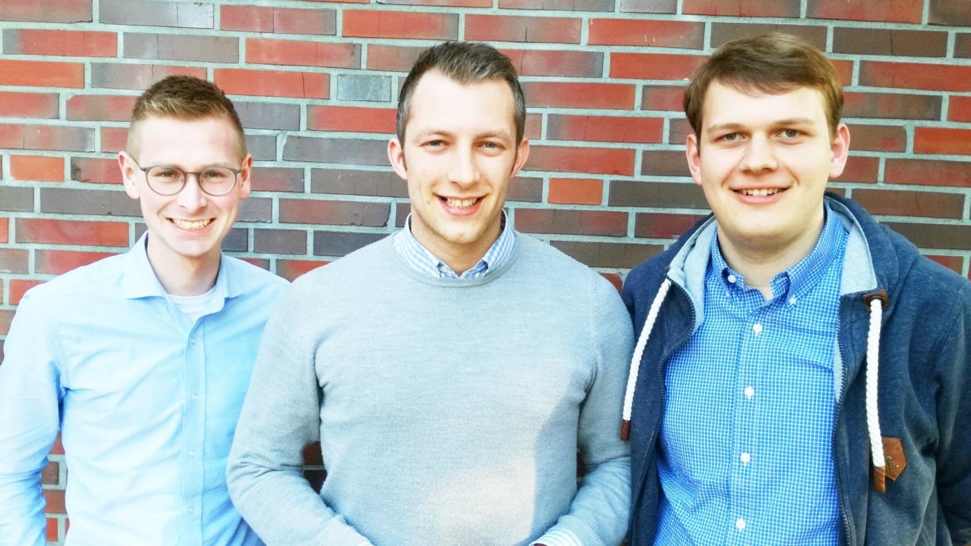 (v.l.n.r.) Matthias Möller, André Hüttemeyer, Philipp Albrecht