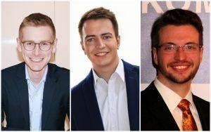 v.l.n.r. Matthias Möller, Fabio Maier, Stefan Weidelich